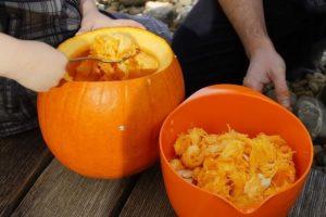 Halloween töklámpás készítés